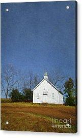 Church In The Suburbs Of Eureka Springs  Arkansas Acrylic Print by Elena Nosyreva