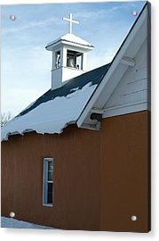 Church In Vallecitos New Mexico Acrylic Print by Gia Marie Houck