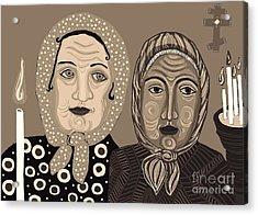 Church Ladies 2 Acrylic Print by Sarah Loft
