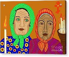 Church Ladies Acrylic Print by Sarah Loft