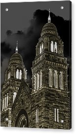 Church Lights On St. Peter Cathedral Acrylic Print by Optical Playground By MP Ray
