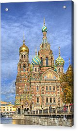 Church Of The Saviour On Spilled Blood. St. Petersburg. Russia Acrylic Print by Juli Scalzi