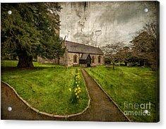 Church Path Acrylic Print by Adrian Evans