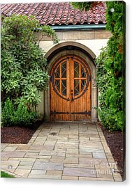 Church Side Door Acrylic Print by Chris Anderson