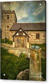 Church Sundial 1806 Acrylic Print by Adrian Evans