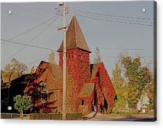 Church Vines Acrylic Print by Trent Mallett