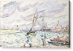 Ciboure Acrylic Print by Paul Signac