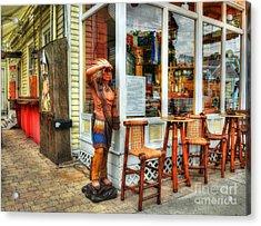 Cigars In Key West Acrylic Print by Mel Steinhauer