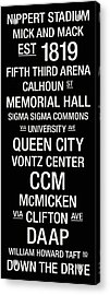 Cincinnati College Town Wall Art Acrylic Print by Relpay Photos