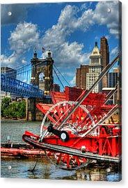 Cincinnati Landmarks 1 Acrylic Print by Mel Steinhauer