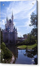 Cinderella Castle Acrylic Print by Roger Wedegis