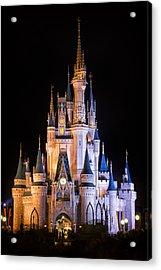 Cinderella's Castle In Magic Kingdom Acrylic Print by Adam Romanowicz