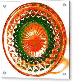 Circle Orange Acrylic Print by Anita Lewis