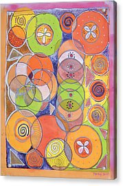 Circles Within Circles Acrylic Print by Mandy Simpson