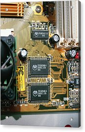 Circuit Board Acrylic Print by Andrew Lambert Photography
