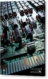 Circuit Board Acrylic Print by Jerry McElroy