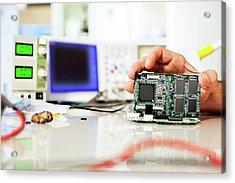 Circuit Board Acrylic Print by Wladimir Bulgar