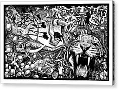 Circus Breaks Acrylic Print by Matthew Ridgway
