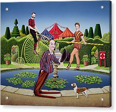 Circus Performers Acrylic Print by Anthony Southcombe