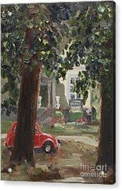 Citroen 2cv And Marialust Apeldoorn Acrylic Print by Ernst Dingemans