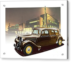 1950s Portraits Acrylic Print featuring the digital art Citroen Traction Avant by Dan Knowler