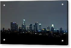 City At Night Acrylic Print by Andrew Raby