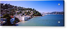 City At The Coast, Sausalito, Marin Acrylic Print by Panoramic Images