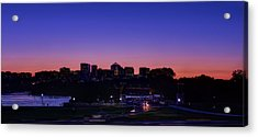 City At The Edge Of Night Acrylic Print by Metro DC Photography