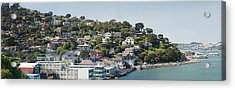 City At The Waterfront, Sausalito Acrylic Print by Panoramic Images