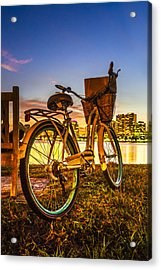 City Bike Acrylic Print by Debra and Dave Vanderlaan