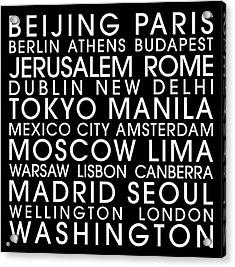City Capitals Acrylic Print by Gary Grayson
