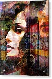 City Girls Color Acrylic Print by Lutz Baar