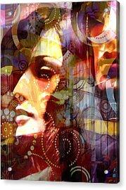 City Girls Retro Acrylic Print by Lutz Baar