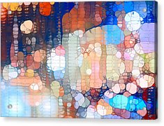 City Lights Urban Abstract Acrylic Print by Dan Sproul