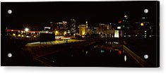 City Lit Up At Night, Cape Town Acrylic Print by Panoramic Images