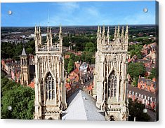 City Of York, York Minster, Cathedral Acrylic Print by Miva Stock