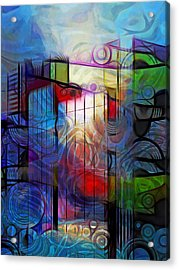 City Patterns 2 Acrylic Print by Lutz Baar