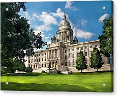 City - Providence Ri - The Capitol  Acrylic Print by Mike Savad