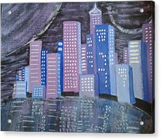 City Reflections Acrylic Print by Erica  Darknell