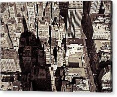 City Shadow Acrylic Print by Dave Bowman