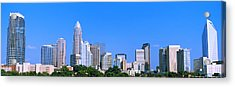 City Skyline, Charlotte, Mecklenburg Acrylic Print by Panoramic Images