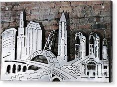 City Skyline Acrylic Print by Patricia Januszkiewicz