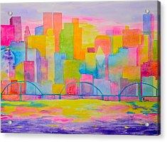 City To Dye For Acrylic Print by Rhonda Leonard