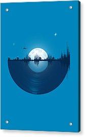 City Tunes Acrylic Print by Neelanjana  Bandyopadhyay