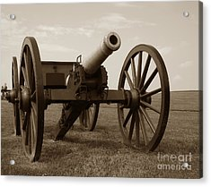 Civil War Cannon Acrylic Print by Olivier Le Queinec