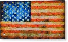 Civil War Flag Acrylic Print by Dan Sproul