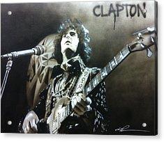 Eric Clapton - ' Clapton ' Acrylic Print by Christian Chapman Art