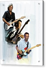 Clapton Eric Clapton Acrylic Print by Iconic Images Art Gallery David Pucciarelli