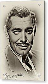 Clark Gable Acrylic Print by Andrzej Szczerski