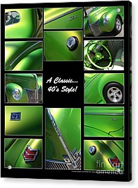 Classic 40s Style - Poster Acrylic Print by Gary Gingrich Galleries